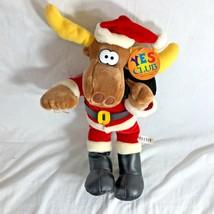 "MWT Santa Clause Moose Plush Stuffed Toy Yes Club 17"" Tall  Animal  - $13.60"