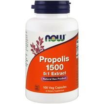 Natural Bee Propolis 1500 5:1 Extract General Health Non GMO 100 Veg Capsules - $24.55