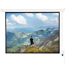 "120"" 4:3 HD Electric Projector Screen Auto Remote Control Home Theater S... - $74.99"