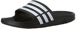adidas Duramo Slide Sandal (11 M US Black/White/Black) - $42.54
