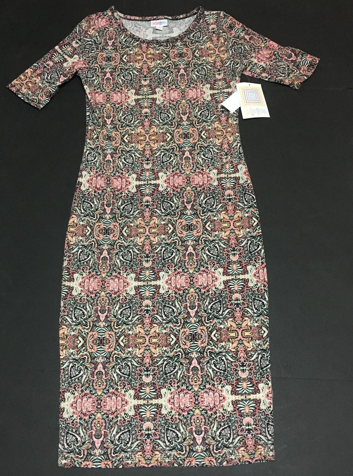 Lula Roe Julia Geometric Dress Sz XXS