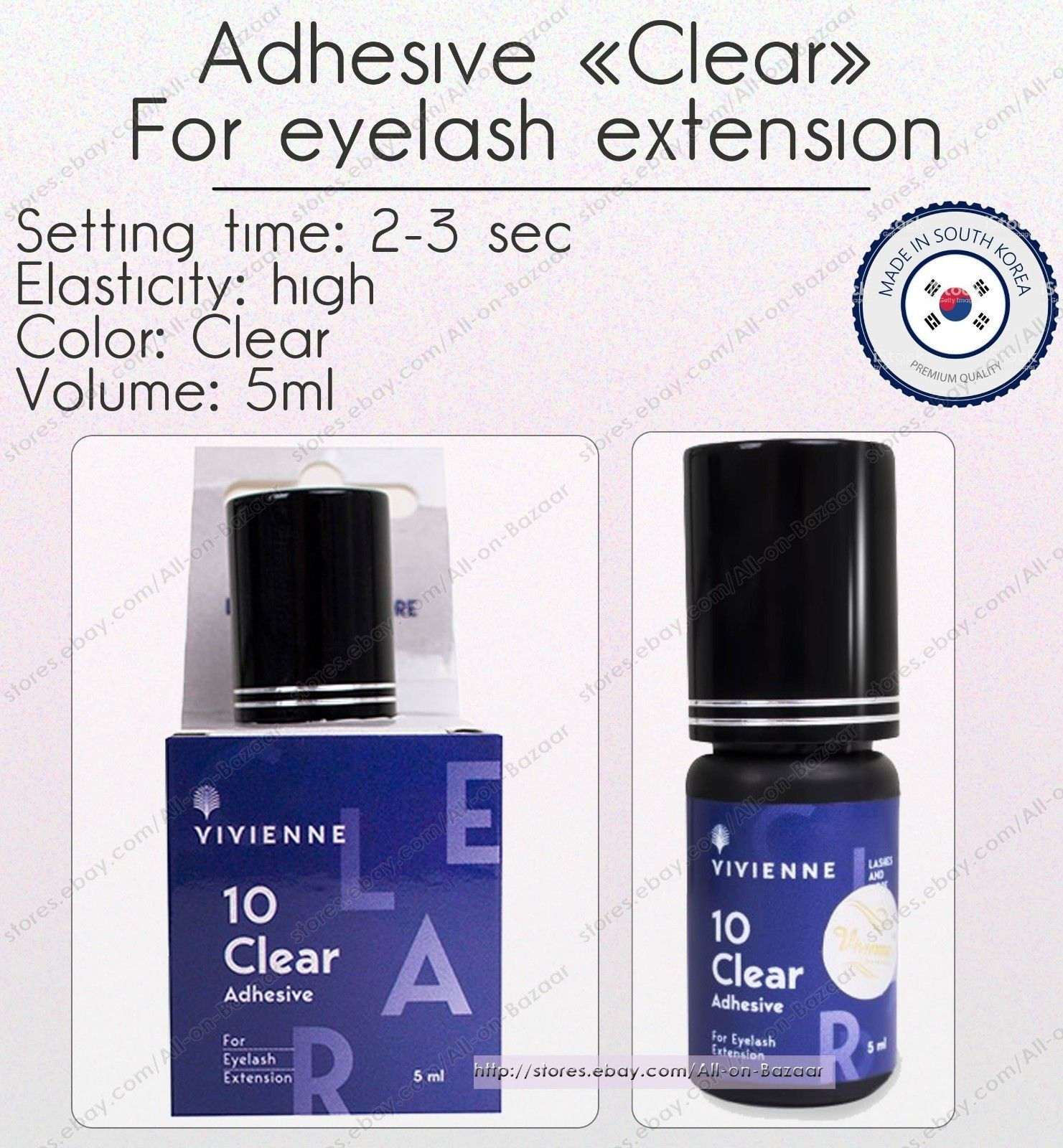 Primary image for New Viviene Adhesives glue Clear 5 ml for eyelash extension original