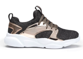 Girls' Black Rose Gold S Sport by Skechers Edena Sneakers Shoes NEW image 2