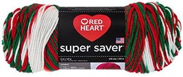 Red Heart Super Saver Yarn, Mistletoe Print - $9.12