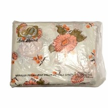 Lady Pepperell Super King Fitted Sheet XL Pink Floral Flower Vintage Bed... - $28.04