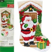 Bucilla Gem Dots Santa at the Door Christmas Craft Facet Art Stocking Ki... - $39.95