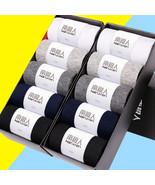 10pcs/ Set Of 10 Pair Men Breathable Sweat Busniess Socks Casual Mid-Cal... - $17.81