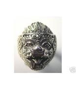 HANUMAN 925 Sterling Silver Hindu Ring Jewelry Buddha Monkey OM devotee ... - $40.23