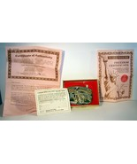 VINTAGE 1986 USA FRANCE STATUE OF LIBERTY COMMEMORATIVE BELT BUCKLE COMP... - $14.84