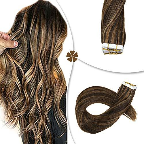 Hetto Tape in Human Hair Extensions 22 inches Seamless Glue in Hair Extensions 2