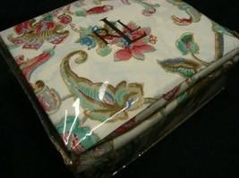 New Ralph Lauren Antigua Floral Paisley King Flat Sheet Pink Brown Blue Ivory - $149.99