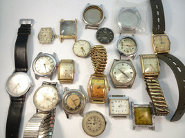 VTG ELGIN CYMA CROTON BENRUS KELTON SEARS SWISS USA WATCH PARTS FOR REST... - $285.42