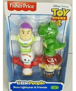 Disney Pixar Fisher Price Little People - Buzz Lightyear & Friends Toy S... - $12.99