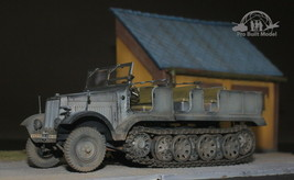 German SdKfz 8 12-Ton Heavy Halftrack 1:35 Pro Built Model - $247.50