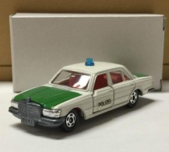 Vintage Rare Tomica Mercedes Benz 450SEL police car blue box foreign car series - $207.89