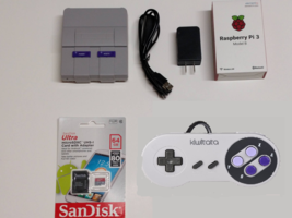 Raspberry Pi 3 Mini SNES Classic Tribute Retro Gaming 64GB with Controll... - $99.99