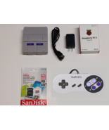 Raspberry Pi 3 Mini SNES Classic Tribute Retro Gaming 64GB with Controll... - $109.99