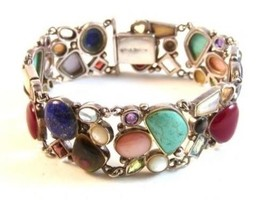 Sterling Silver Multi Stone Bracelet - $351.44