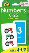 School Zone - Numbers 0-25 Flash Cards - Ages 4 to 6, Preschool, Kindergarten, M