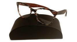 Prada Women's Gray Brown Glasses with case VPR 12T VAN-1O1 53mm - $94.50
