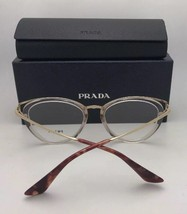 New PRADA Eyeglasses VPR 06U VYR-1O1 54-19 145 Grey Marble & Black Frames - $249.95
