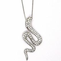 Halskette Silber 925, Kette Venetian, Anhänger Anhänger Schlange, Zirkonia image 2