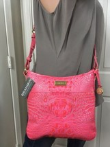 NWT BRAHMIN JODY Amalfi Bright PINK MELBOURNE LEATHER Crossbody Shoulder... - $157.41