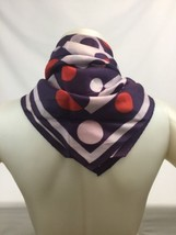 """Contemporary Square Scarf 26"""" Circles Round Design Neck Head Hair Cover Red - $14.70"""