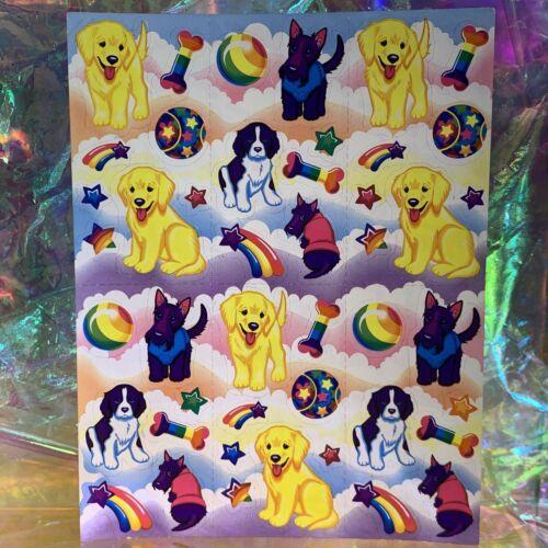 Lisa Frank Complete Sticker Sheet S243Pups Doges Dog Lab Terrier Spaniel