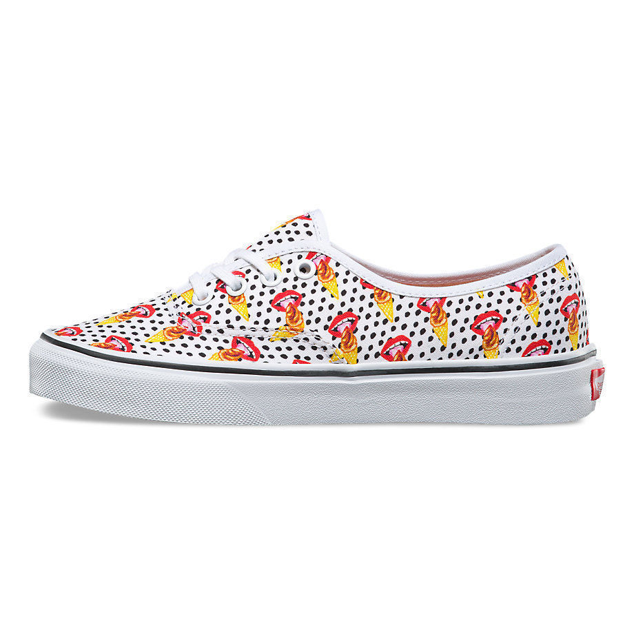 VANS Authentic Kendra Dandy I Scream Ice Cream Polka Dot Women's Shoes