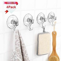 Suction Hooks LUXEAR Vacuum Suction Cup Hook 4 Pack New Design Towel Hooks for B image 1