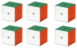 (Pack of 6) QiYi 2x2 2x2x2 Stickerless Speed Cube Puzzle (Pack of 6) - $25.76