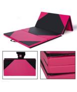 "4'x10'x2"" Gymnastics Mat Folding Panel Thick Gym Fitness Exercise Pink/B... - $221.11"