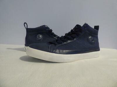 65.00 Polo Ralph Lauren Clarke Hi-Top Sneakers ,Heather Rip Stop,  Navy,