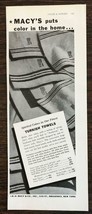 1936 R. H. Macy's & Co. Print Ad Spirited Colors in Our Finest Turkish T... - $10.69