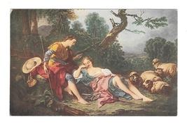 Pastourelle Artist F Boucher Pastoral Romance Lovers Salon JPP Art Postcard - $3.99