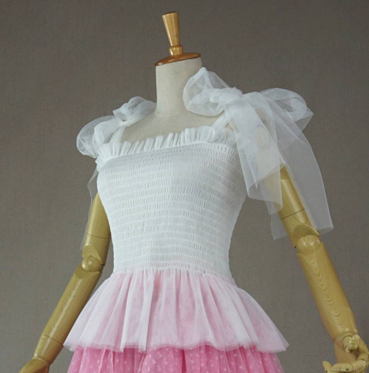 Tulle top white 1