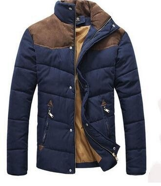 Han edition leisure men favors new cotton-padded clothes with thick jacket coat