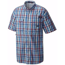 New Columbia Men's Pfg Super Bonehead Classic Short Sleeve Shirt, Skyler Multi - $30.51