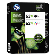 2-PACK HP GENUINE 63XL Black & Tri-Color Ink Cartridge -NEW IN BOX- EXP:... - $59.78