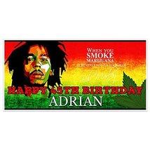 Marijuana Bob Marley Birthday Banner Personalized Party Backdrop Decoration - €18,94 EUR