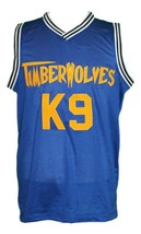 Air Bud K9 Timberwolves Basketball Jersey New Sewn Blue Any Size image 3