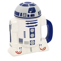 Star Wars R2-d2 Ceramic Cup With Lid, Star185 - £13.55 GBP