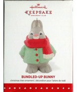 2015 New in Box - Hallmark Keepsake Christmas Ornament - Bundled-Up Bunny - $5.78