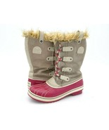 Sorel Girls 5 Tofino Winter Boot Pink Beige Leather Lace Up Snow Boot EUR 37 1/3 - $39.99