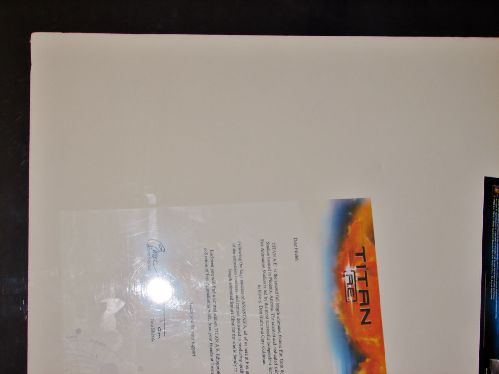 2000 TITAN A.E. Matted Movie Lithograph 24x15 LE Art Print 1815/5000 COA Giclee