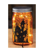 3/Halloween lit mason jar spooky porch table fun decor - $49.49