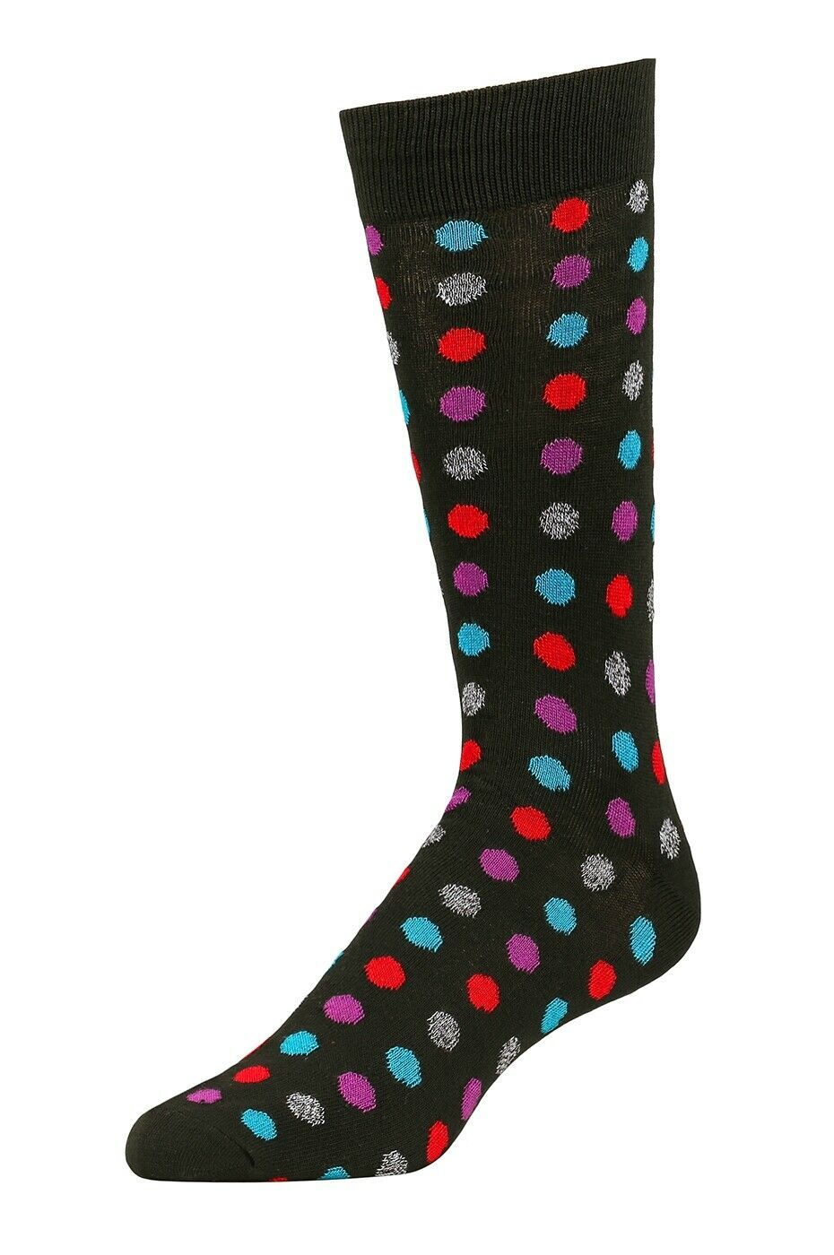 Primary image for Men's Dress Novelty Fashion Socks 1-3 Packs Polka Dots Funky Colors Size 10-13