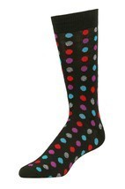 Men's Dress Novelty Fashion Socks 1-3 Packs Polka Dots Funky Colors Size... - $8.81+