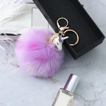 Key Chain Keyring Metal Keychain Collection Steel Ring Fashion Pluffy Ro... - $6.15